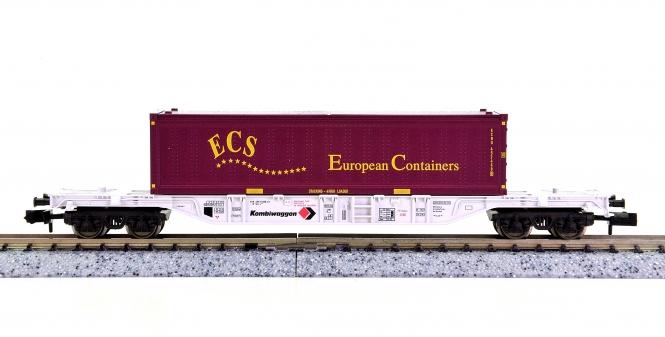 Fleischmann 8251 K (N) – Container-Tragwagen der Kombiwaggon, beladen
