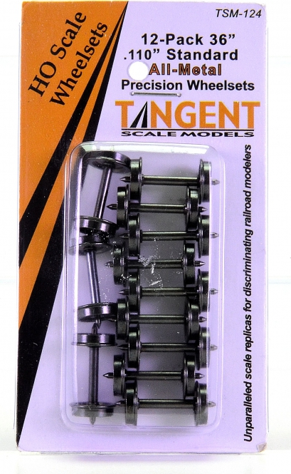 Tangent TSM124 – 12x 36 inch Normal Tread RP25 All-Metal Wheelset