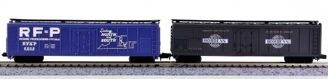 Life-Like 7717, 7718 (N) – 2 Reefer Cars der RF&P und Bordens