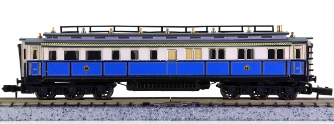 Arnold 3950 – Hofzug-Salonwagen der K.Bay.Sts.B., Messingmodell