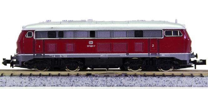 Arnold 2051 – Mehrzweck-Diesellok BR 217 der DB, Simplex-Kupplung