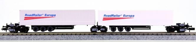 Roco 1955 (N) – Kombirail-Grundset (RoadRailer) der DB AG