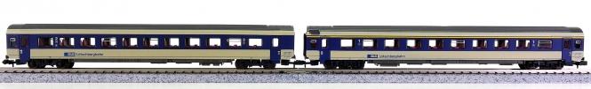 Roco 24334/24335 (N) - 2 IC-Wagen 1. und 2.Kl. der BLS Lötschbergbahn