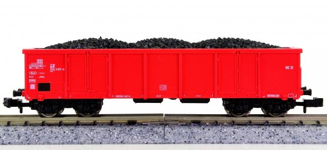 Roco 25356 (N) – Hochbordwagen Eaos der DB Cargo, beladen