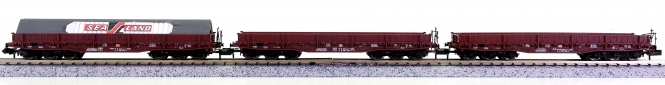 Brawa 1820 (N) – 3-tlg. Flach-Güterwagen-Set der DB AG