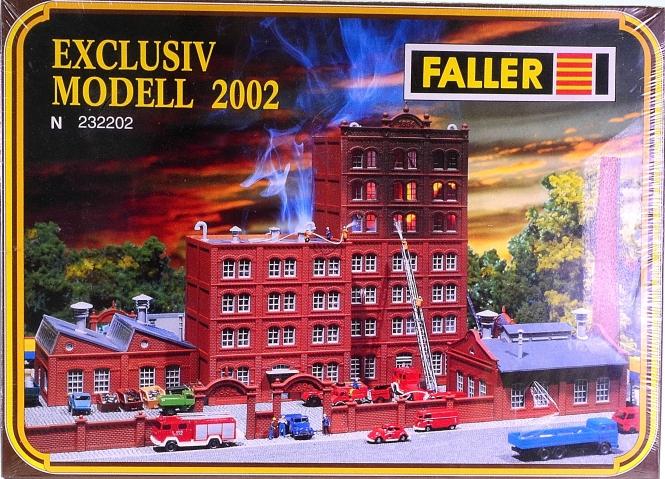 Faller 232202 (N) – Bausatz Brennende Fabrik, Exclusiv-Modell 2002