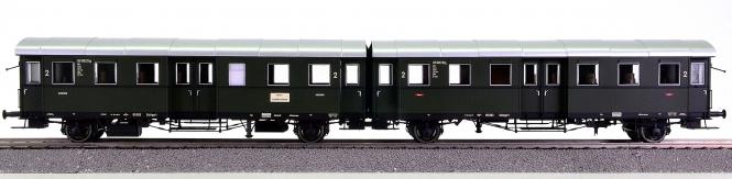 Brawa 45070 – 2. Klasse Umbauwagen-Set Bi+Bi wü 29 der DB