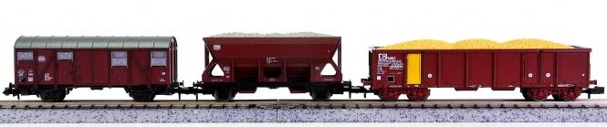 Roco 2330 u.a. (N) – 3-teiliges Güterwagen-Set der DB und SNCF