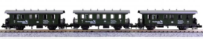 Roco 24200 (N) – 3 Personenwagen 2.Kl. des Kuckucks-Bähnel