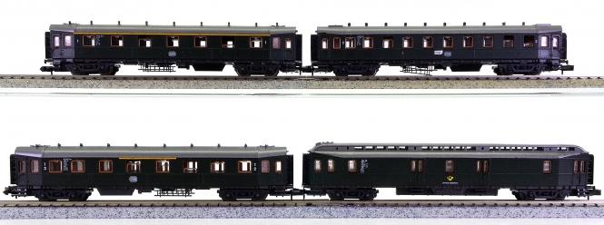 Roco 2256 u.a. (N) – 4-teiliges Hecht-Schnellzugwagen-Set der DB