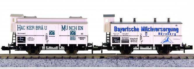 Trix 13218, 51 322 00 (N) – 2-teiliges Kühlwagen-Set der K.Bay.Sts.B.