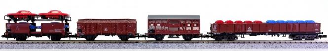 Trix 13533 u.a. (N) – 4-teiliges Güterwagen-Set der DB