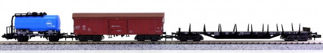 Trix 13543 u.a. (N) – 3-teiliges Güterwagen-Set der DB