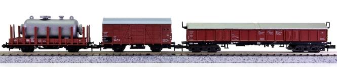 Trix 51 3587 30 u.a. (N) – 3-teiliges Güterwagen-Set der DB