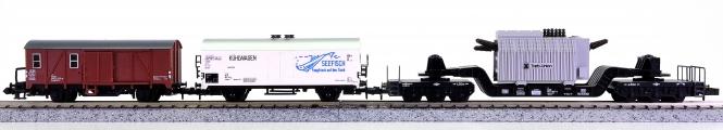 Trix 51 3500 00 u.a. (N) – 3-teiliges Güterwagen-Set der DB