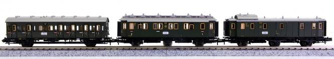 Trix 13301 u.a. (N) – 3-teiliges Personenwagen-Set der DRG
