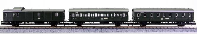 Trix 13753 / 13754 / 13755 (N) – 3-teiliges Personenwagen-Set der DB