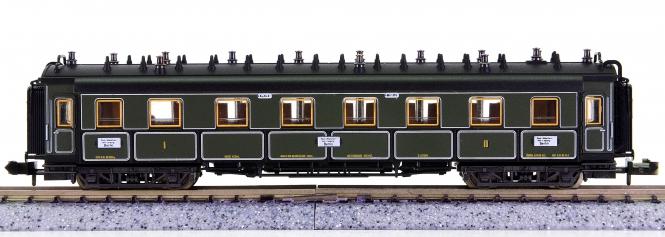 Trix 51 3184 00 (N) – Schnellzugwagen 1./2.Kl. der K.Bay.Sts.B.