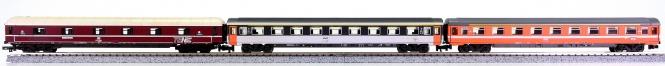 Trix 51 3089 00 u.a. (N) – 3-tlg. Personenwagen-Set der DB/SNCF