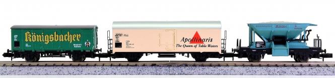 Arnold 42530.30/4577/4241-004 – 3-teiliges Güterwagen-Set, eingest. bei der DB