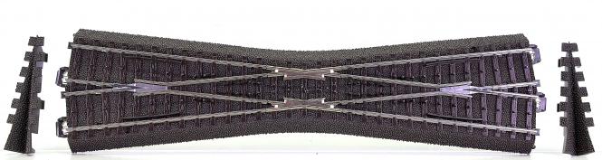 Märklin 24740 - Schlanke C-Gleis-Kreuzung 236,1 mm, Kreuzungswinkel 12,1°