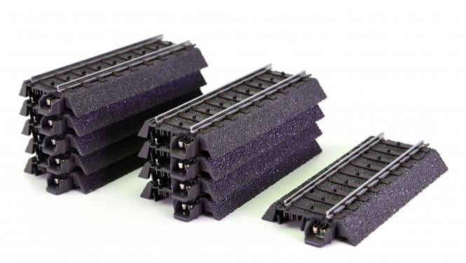 Märklin 24071 - 10x gerades C-Gleis 70,8 mm, Böschungen abnehmbar