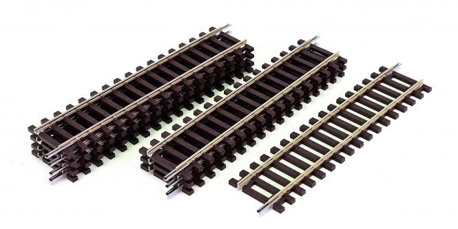 Roco 42411 – 8x Roco-Line gerade Gleise DG1, Länge je Gleis 119 mm