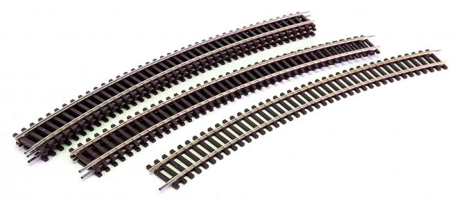 Roco 42425 – 6x Roco-Line gebogene Gleise R5, r = 542,8 mm, 30°