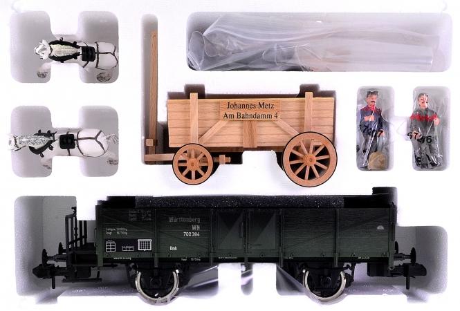 Märklin 58581 (Spur 1) – Kohlewagen der K.W.St.E. mit Pferdefuhrwerk