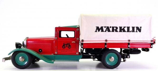 Märklin 1992 (1:16) – Lieferwagen mit Märklin-Plane, Metall-Modell + Uhrwerkmotor
