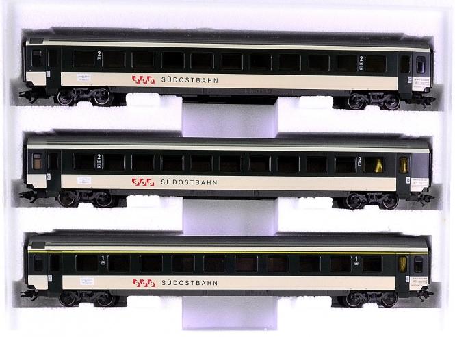Märklin 42161 – 3-tlg. Schnellzug-Wagen-Set der Südostbahn