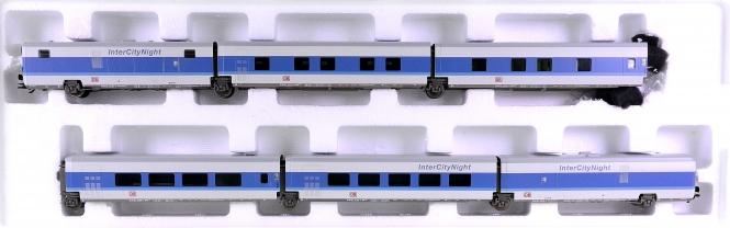 Märklin 41771 – 6-tlg. Schnellzugwagen-Satz InterCityNight der DB AG