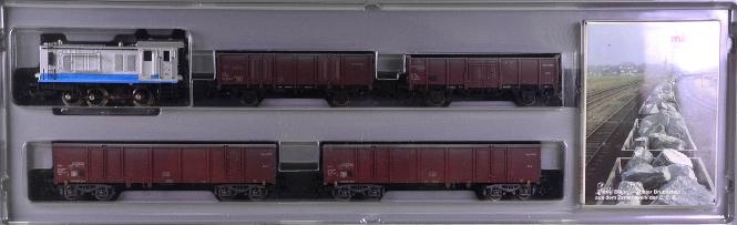 Märklin 2848 – 4-tlg. Zement-Zug der C.C.B., mit Rangierlok BR V36, gealtert