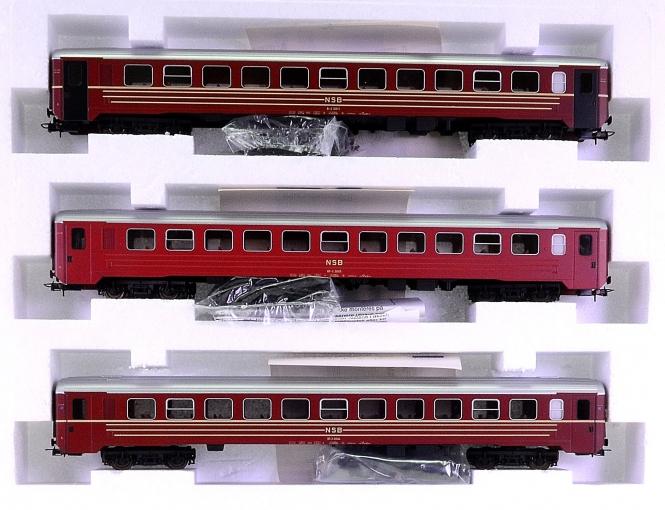 Lima 149758 – 3-teiliges Personenwagen-Set der NSB