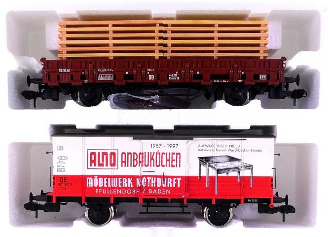 """Märklin 58953 (Spur 1) – 2-tlg. Güterwagen-Set """"Alno"""" der DB"""