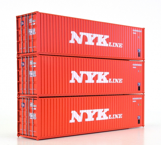 Walthers (H0) – drei 40-ft-Container der NYK Line