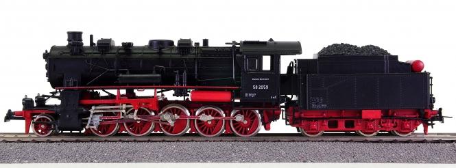 Roco 04112A – Schlepptender-Dampflokomotive BR 58 der DB