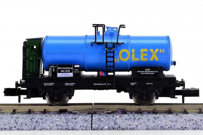 Arnold 4524 – Kesselwagen der OLEX, eing. bei der K.W.St.E.