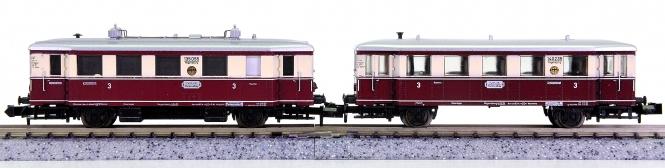 Minitrix 51 2093 00 – 2-teiliger Dieseltriebzug VT 135/VB 140 der DRG