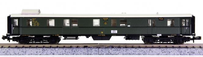 Minitrix 51 3172 00 – Gepäckwagen mit Postabteil der DRG, Innenbeleuchtung