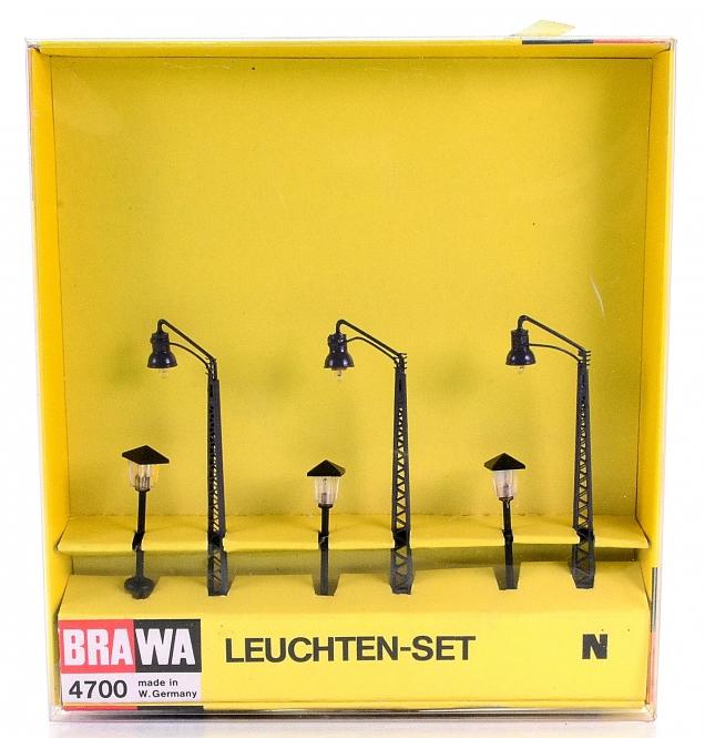 Brawa 4700 (N) – Leuchten-Set, 6 Stück