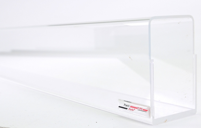 Train-Safe Pure TSP-H0-120 – Plexiglas-Röhre inkl. 2 Deckeln, 120 cm lang