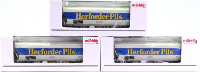 Märklin 46328 - Silowagen-Set Herforder Pils der DB