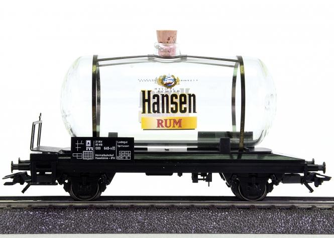 Märklin 94138 – Glas-Kesselwagen HANSEN RUM