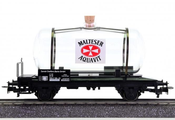 Märklin 44524 – Glas-Kesselwagen MALTESER AQUAVIT