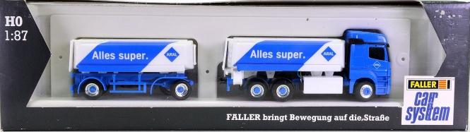Faller 161579 - Car System MB Actros Hängerzug ARAL (HERPA)