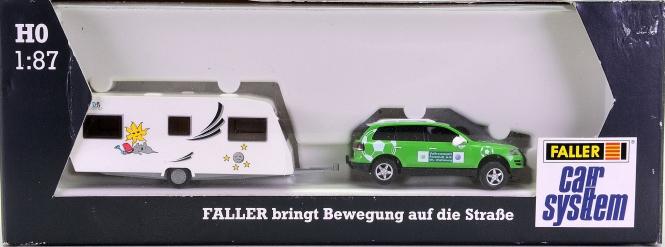 Faller 161529 - Car System Porsche Cayenne (HERPA/WIKING) mit Wohnwagen