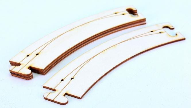 Faller 161920 – Car System, Laser-Street Fahrbahnbogen 45°, Radius 268 mm