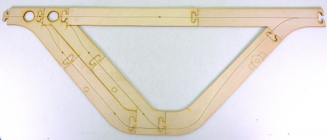 Faller 161942 – Car System, Laser-Street Parkharfe Basis, 873 x 320 mm