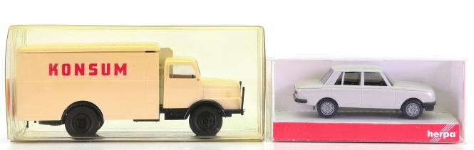 Herpa 022705 / Brekina 71603 – Auto-Set, Wartburg 353 und IFA S 400-1